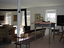 The schoolroom where so many students learned so much.